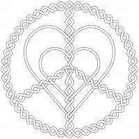 Мир и любовь Раскраски антистресс бесплатно