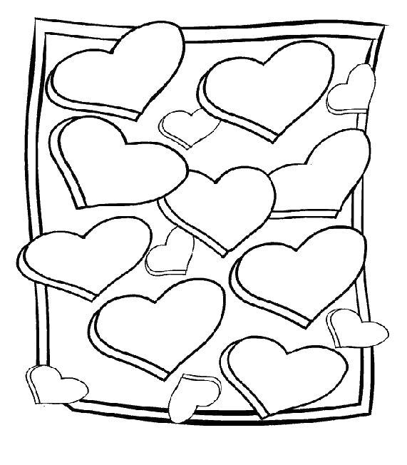 Рамка с сердечками Раскраски антистресс бесплатно