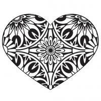 Сердце и цветы узоры Раскраски антистресс бесплатно
