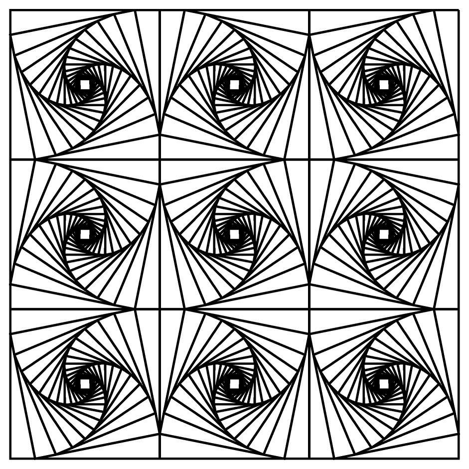Абстрактный сложны узор Раскраски для медитации