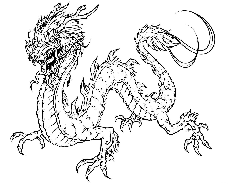 Раскраски драконы - 6