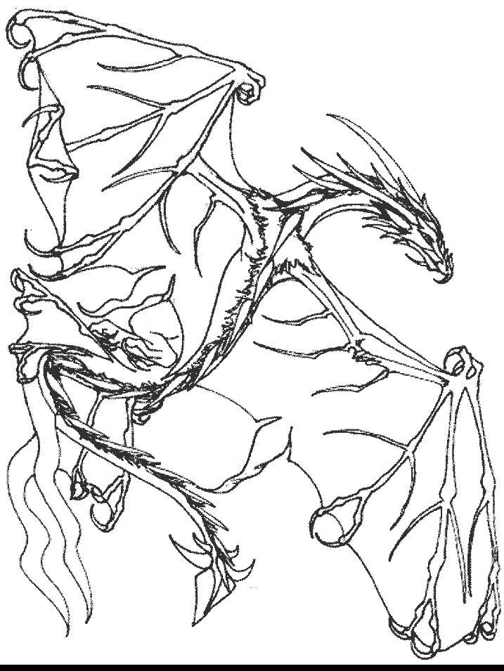 Худой дракон Раскраски антистресс распечатать