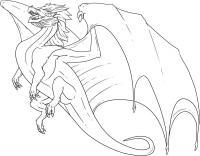 Дракон в полете Раскраски для взрослых скачать