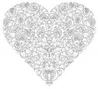 Сердце из цветов Раскраски антистресс бесплатно