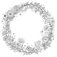 Красивая круглая рамка Раскраски для взрослых антистресс