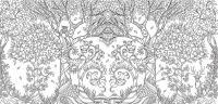 Сова в лесу Медитативная раскраска
