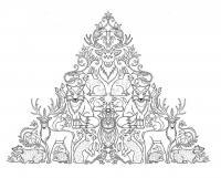 Пирамида из животных Раскраски антистресс бесплатно