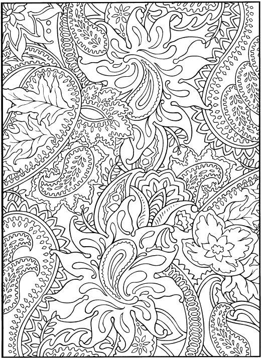 Узоры с цветами и листьями Раскраски антистресс распечатать