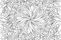 С цветами и геометрическими фигурами Раскраски для взрослых скачать