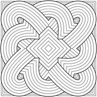 Узоры из геометрических фигур симметричные Скачать сложные раскраски