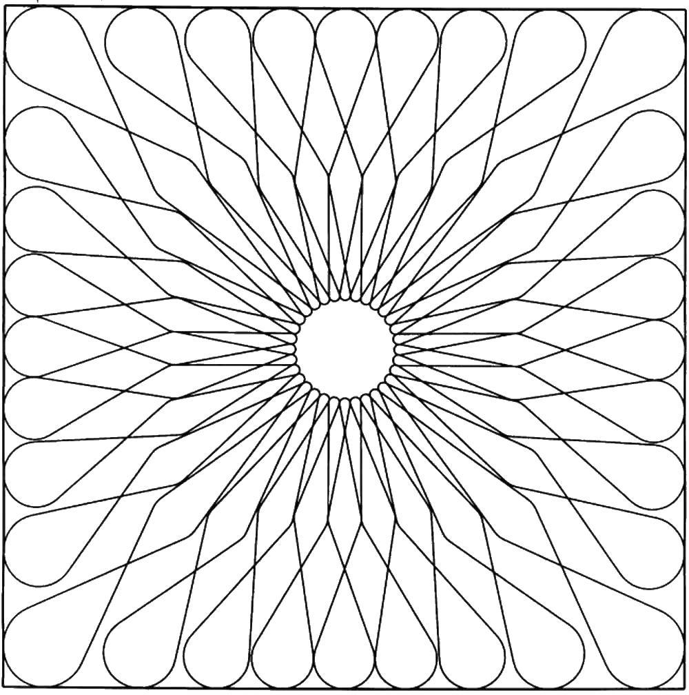 Геометрическая абстрацкия Раскраски для взрослых скачать