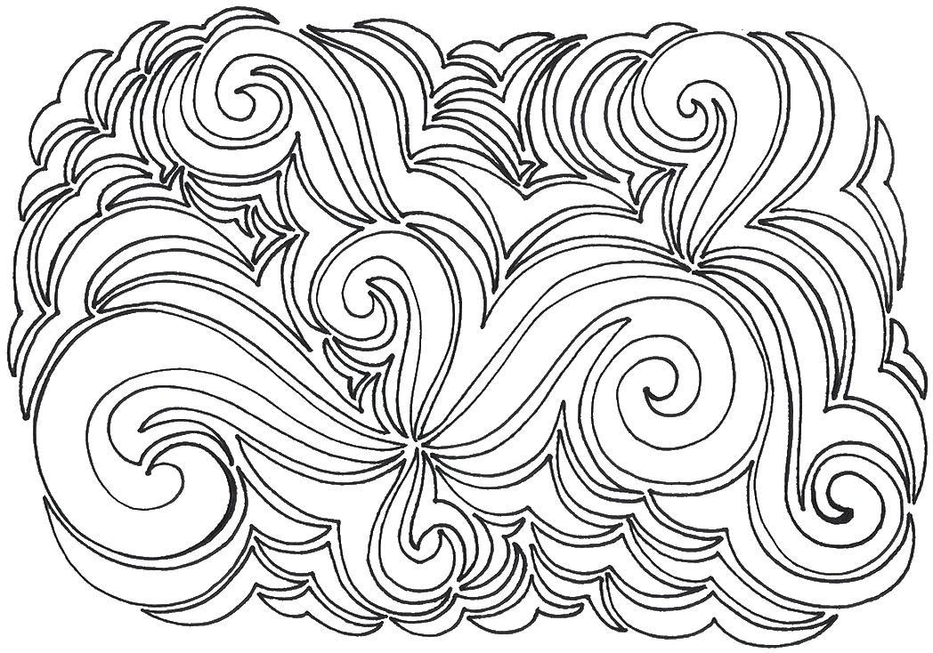 Сложный узор не симметричный Скачать сложные раскраски