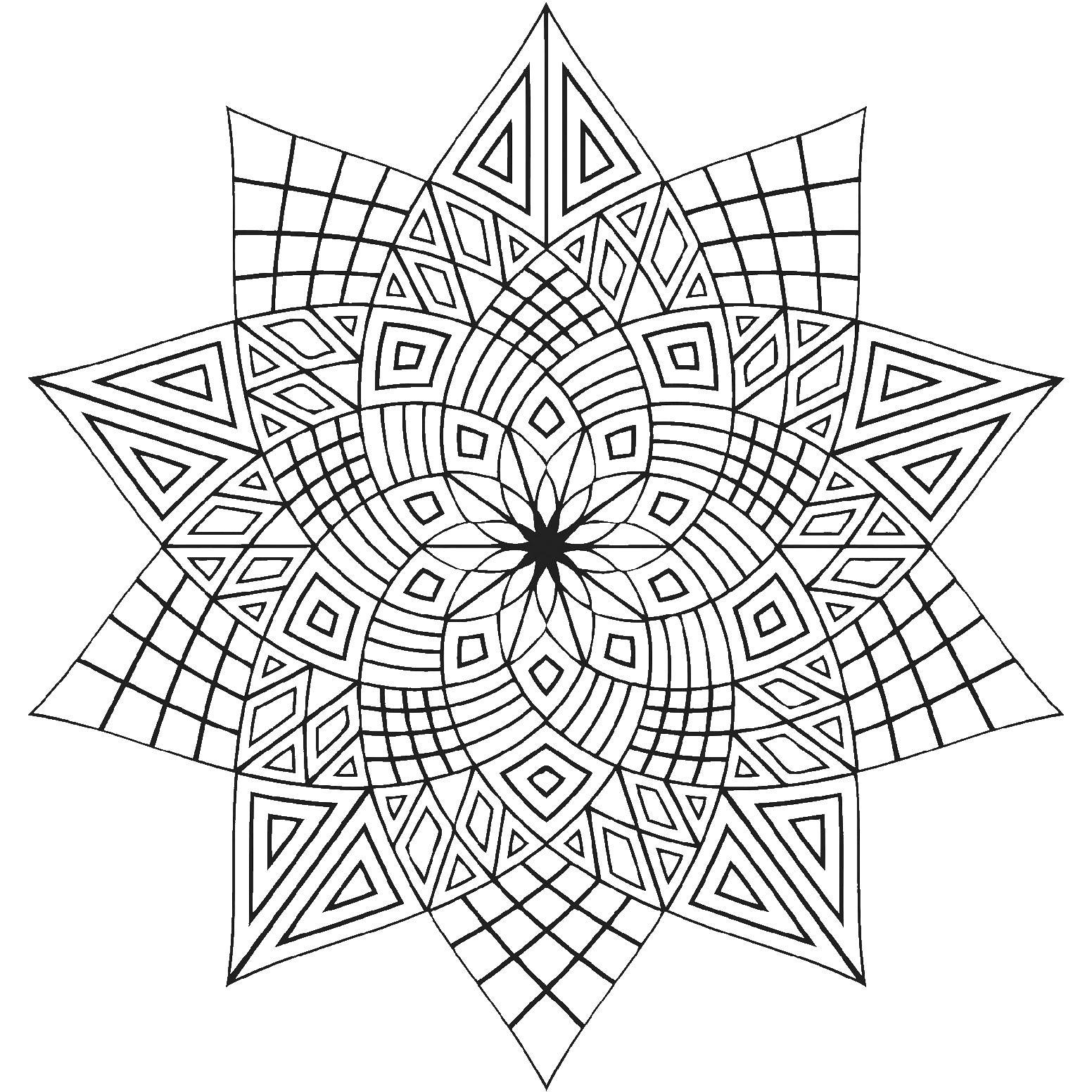 геометрические фигуры Раскраски для взрослых скачать