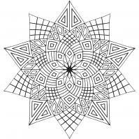 Звезда из геометрических фигур Раскраски для взрослых скачать