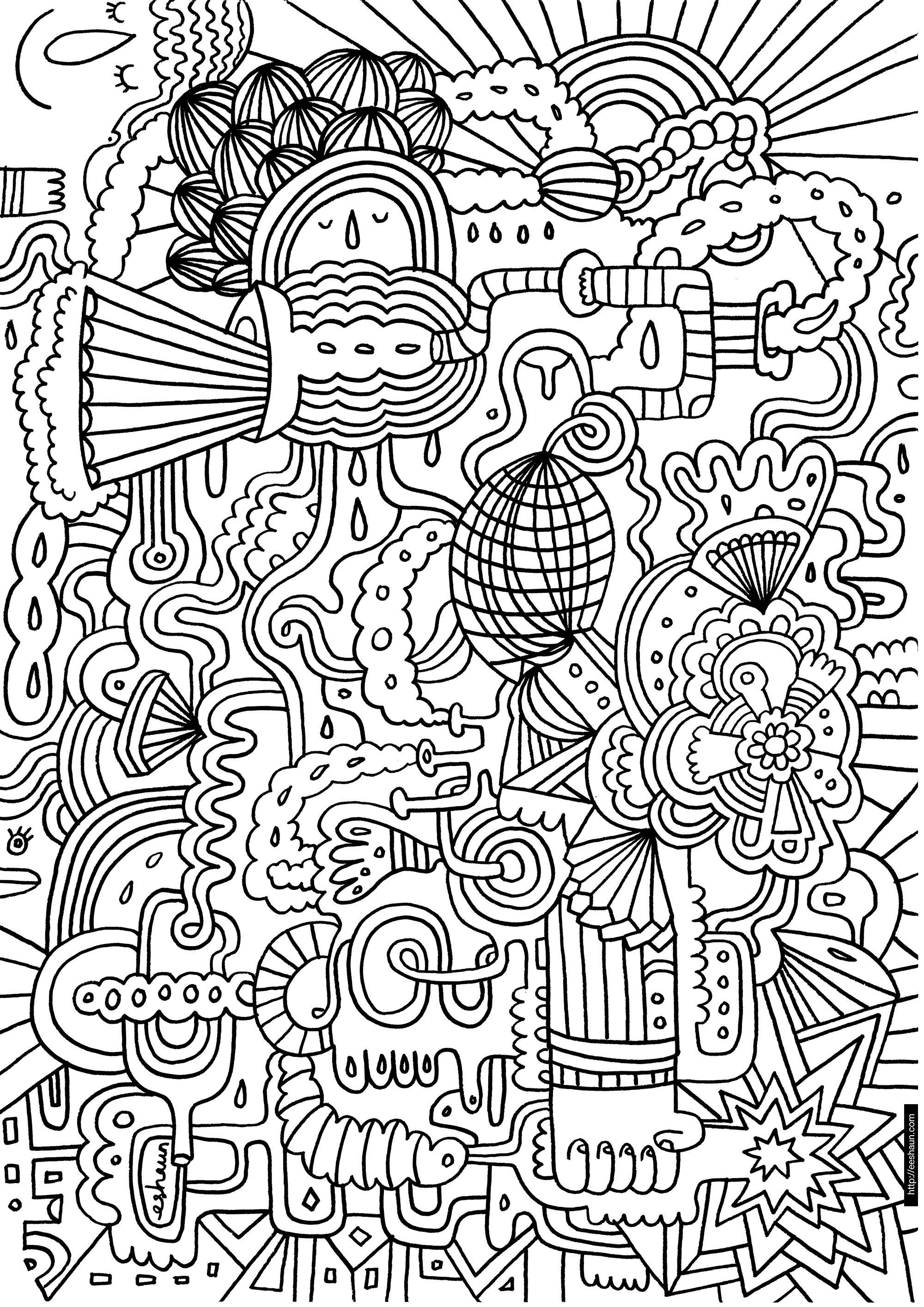 абстракция Раскраски для взрослых скачать