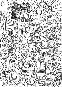 Абстрактный сложны узор Раскраски для взрослых скачать