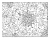 Абстрактный узор из спиралек и кругов Раскраски антистресс распечатать