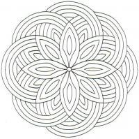 Цветок из кругов Скачать сложные раскраски