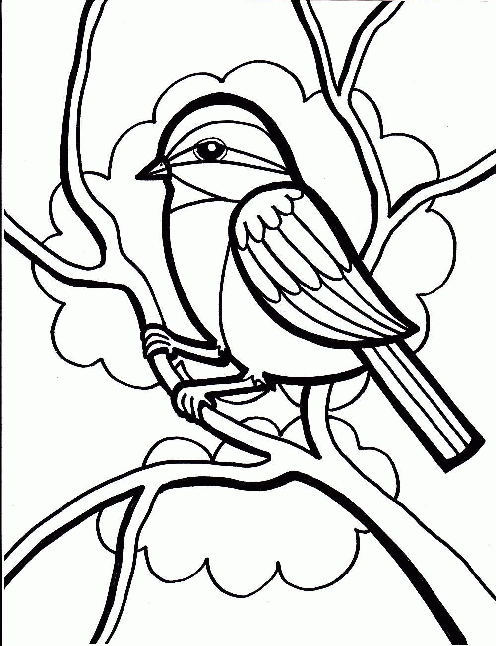 Птица Птица на ветке Раскраски для взрослых антистрессАнтистресс онлайн