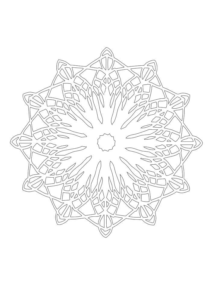Снежинка Онлайн раскраски в хорошем качестве антистресс