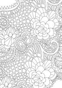 Цветочки Скачать сложные раскраски