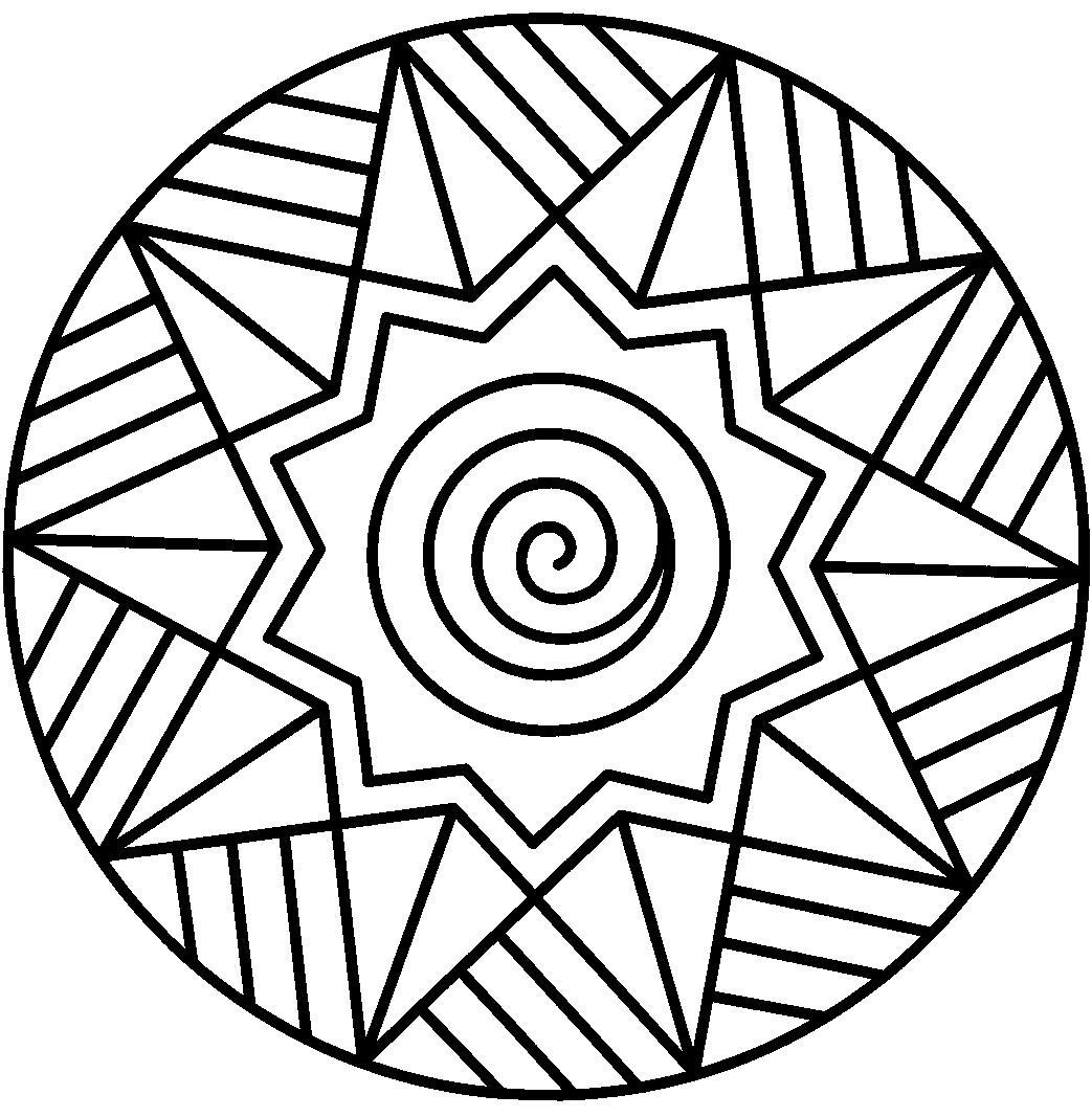 Узор спиральки линии и звезды Раскраски антистресс фото