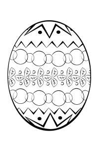 Пасхальное яичко Картинки антистресс раскраски