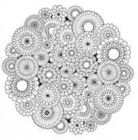 Круглые узоры из цветов Картинки антистресс раскраски