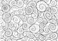 Узоры со спиральками Картинки антистресс раскраски