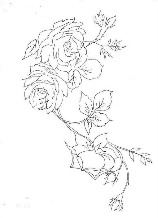 Роза Раскраски для взрослых скачать