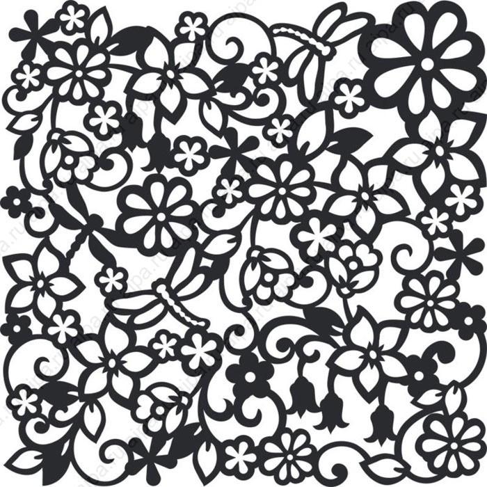 Цветы и стрекозы Раскраски антистресс бесплатно