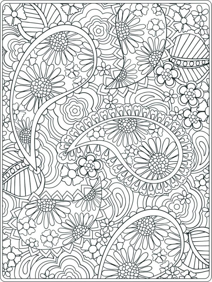 Цветы по кругу Раскраски антистресс распечатать