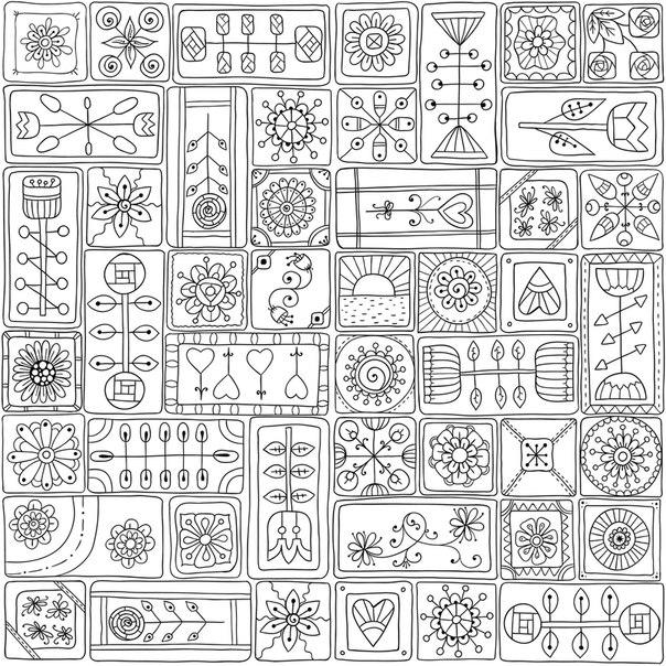 Образцы узоров Медитативная раскраска