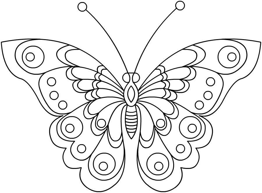 Бабочка Картинки антистресс раскраски