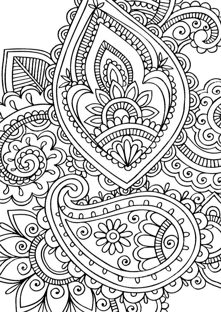 Узоры цветы Онлайн раскраски в хорошем качестве антистресс