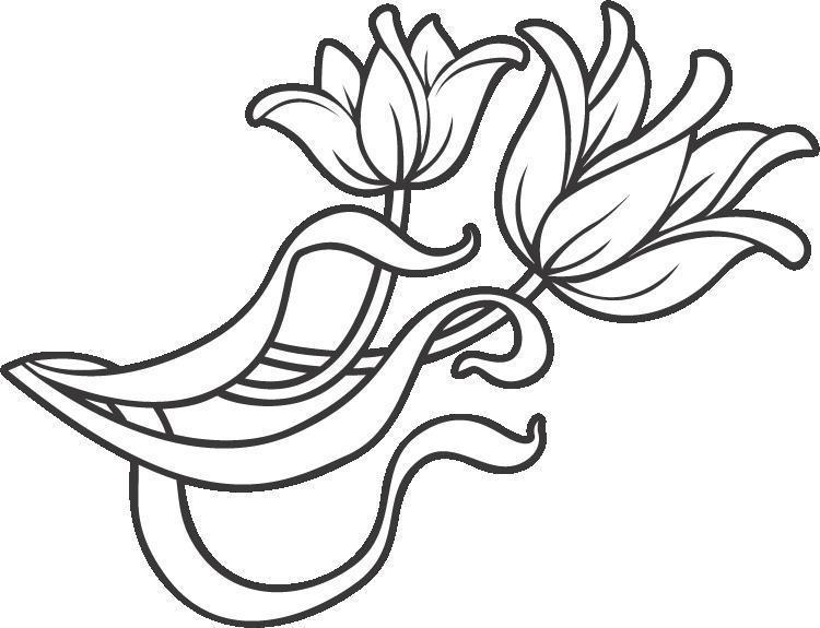 Цветы Тюльпан Раскраски для взрослых антистрессАнтистресс онлайн