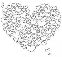 Сердце из сердечек Раскраски антистресс бесплатно