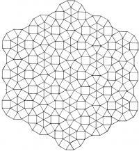 Узор из треугольников и квадратов Раскраски антистресс фото