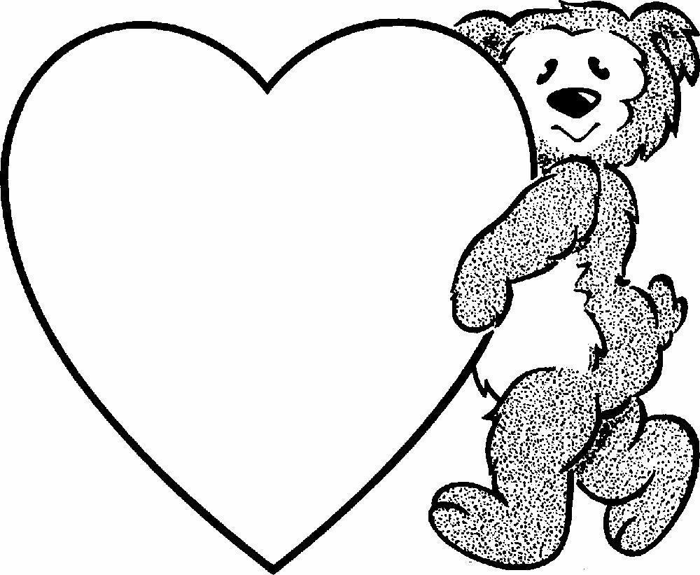 Мишка с сердцем Картинки антистресс раскраски
