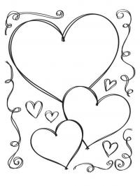 Сердечки Раскраски антистресс бесплатно