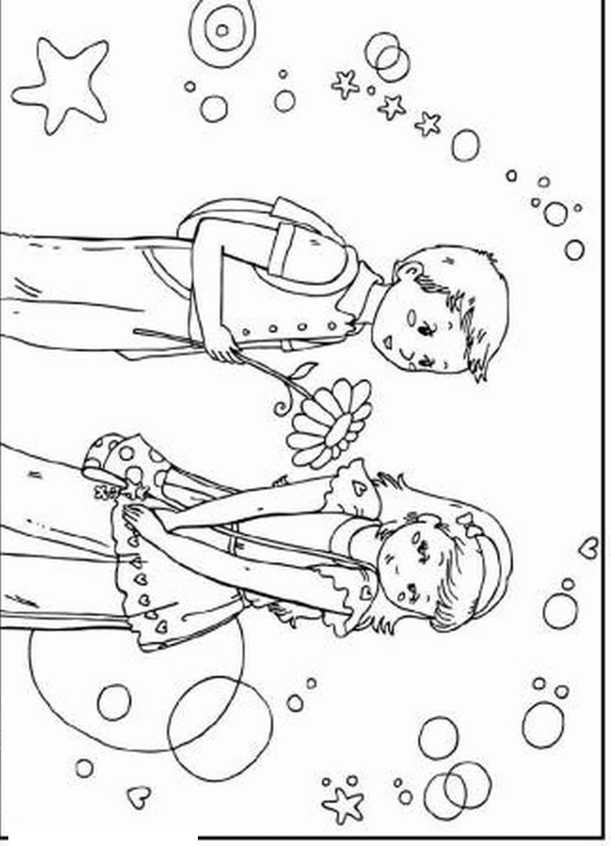 Мальчик и девочка Раскраски антистресс а4