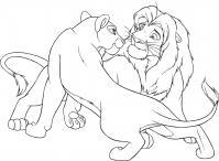 Лев и львица Раскраски антистресс бесплатно