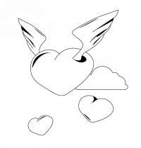 Сердце с крыльями Раскраски антистресс бесплатно