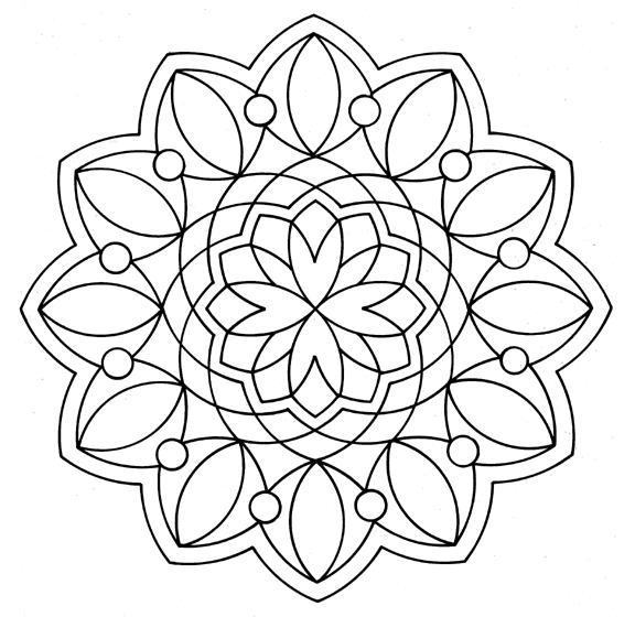 Цветок сложной формы Раскраски для медитации