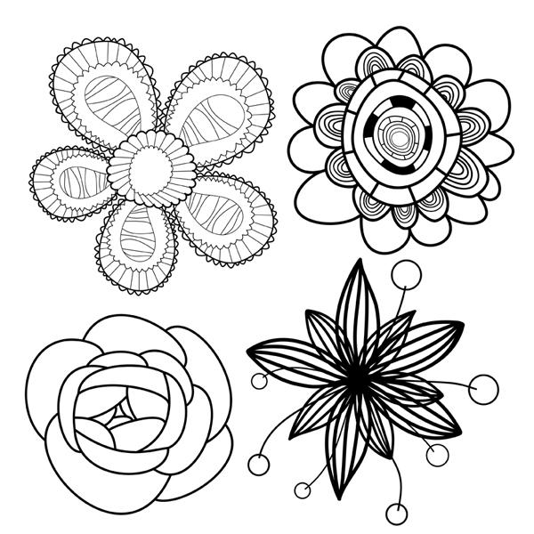 Цветы красивые Раскраски антистресс в хорошем качестве
