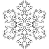 Узор из геометрических фигур Раскраски для взрослых скачать