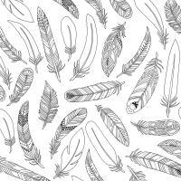 Красивые перья Раскраски антистресс распечатать