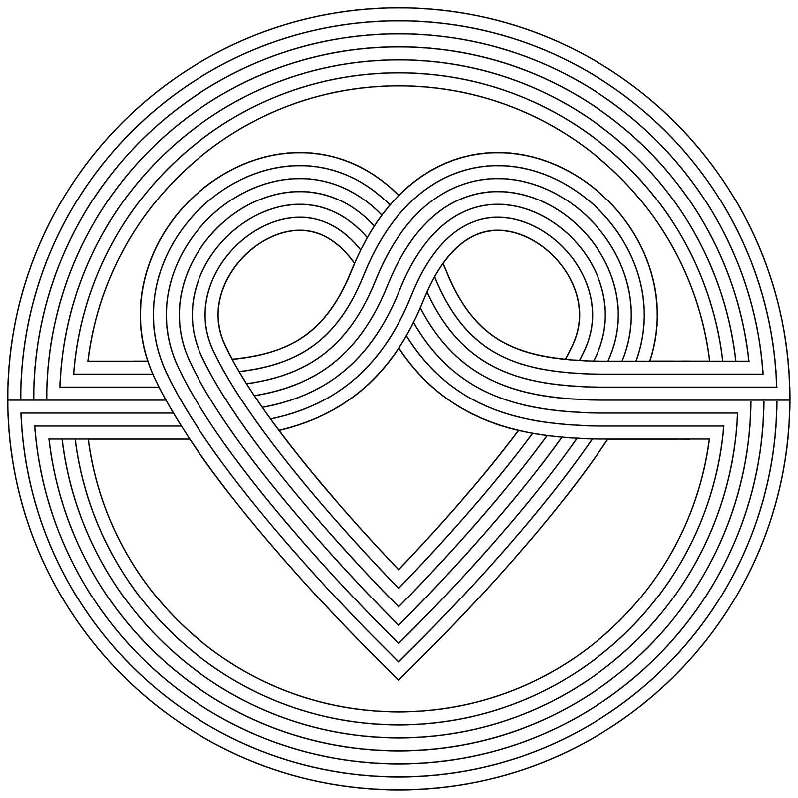 Сердце Раскраски антистресс бесплатно