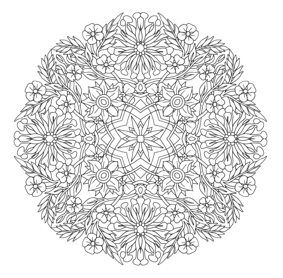 Узоры для взрослых Раскраски для медитации
