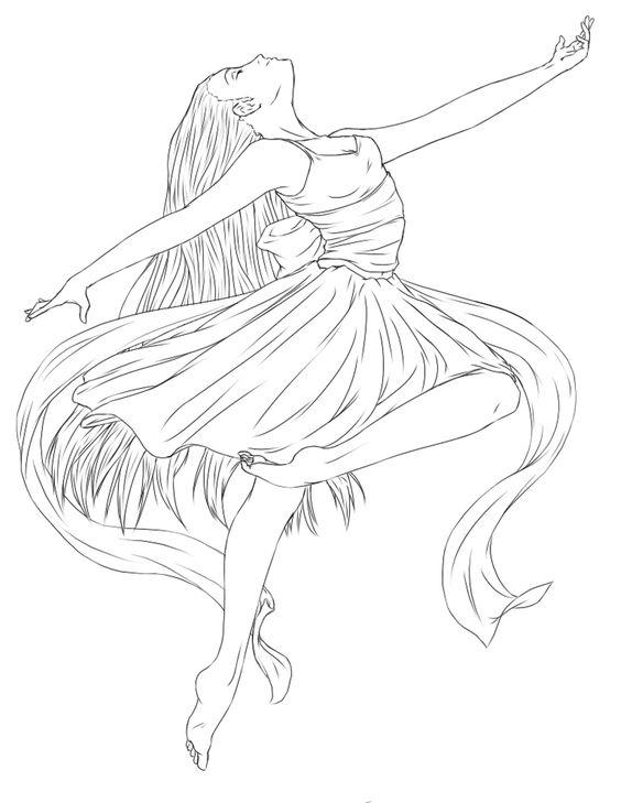 Балерина Раскраски для взрослых скачать